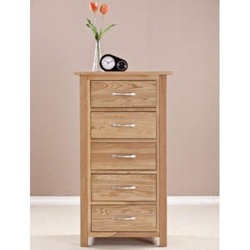Cambridge Solid Oak 5 Drawers Wellington