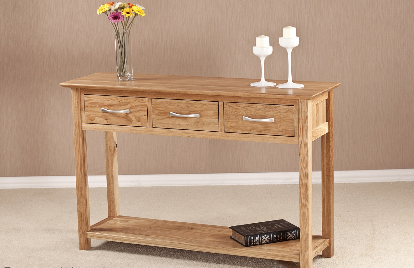 Cambridge Solid Oak Large Hall Table