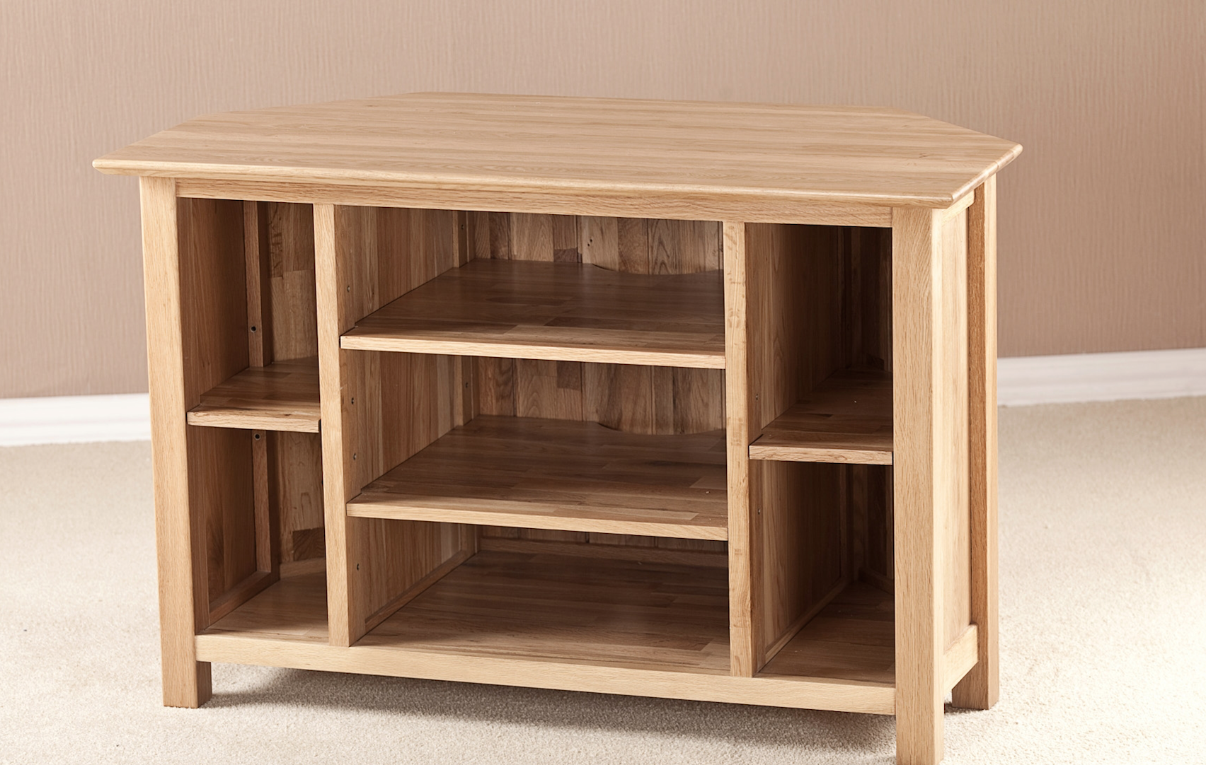 Cambridge Solid Oak Corner TV Unit