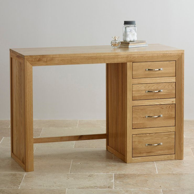 Chamfer Natural Solid Oak Dressing Table