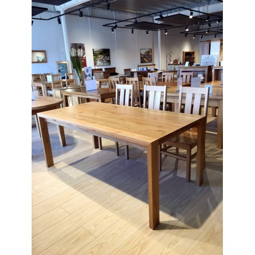 Chamfer Natural Large Solid Oak Dining Table