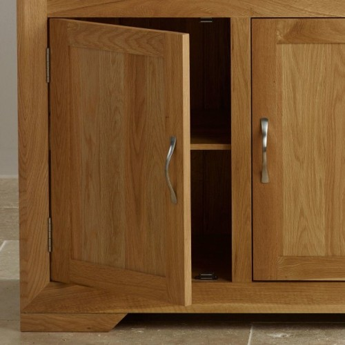 Chamfer Natural Solid Oak Small Sideboard