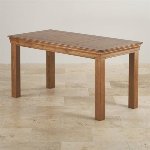 French Rustic Solid Oak 1.5M Dining Table