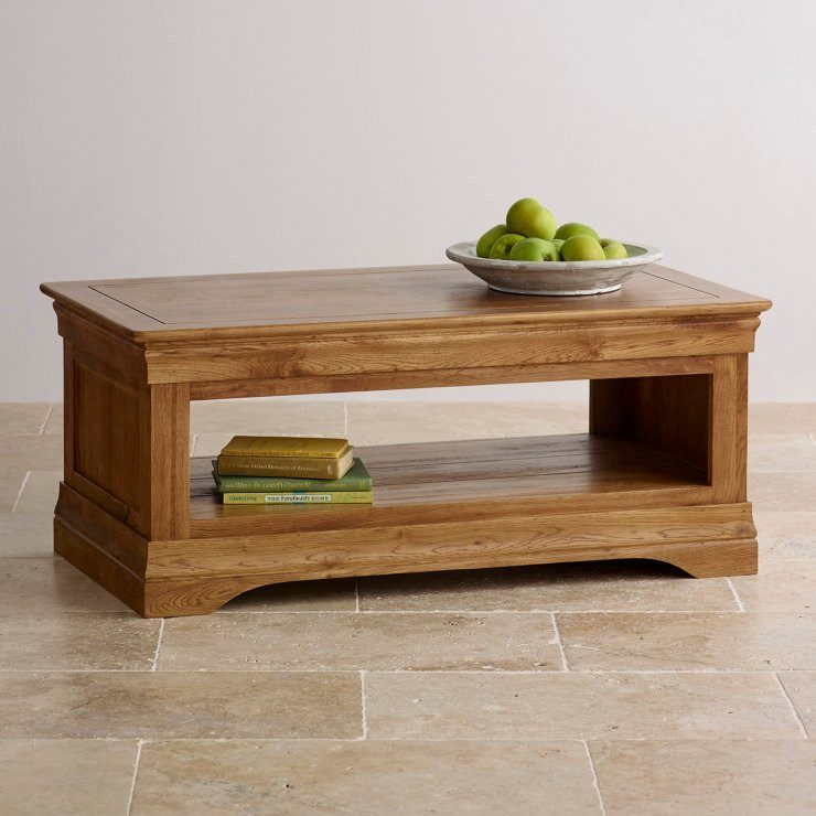 French Rustic Solid Oak Coffee Table