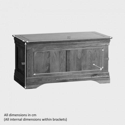 French Rustic Solid Oak Blanket Box