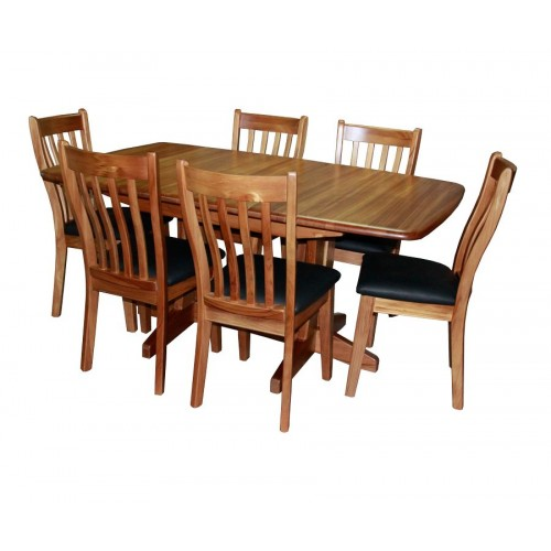Geo 6 chairs and Extendable Dining Table