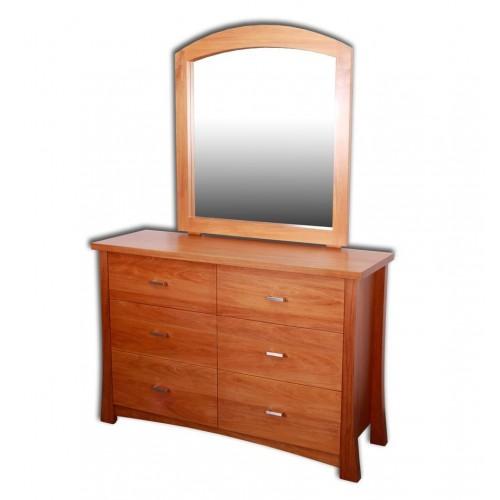 Kea 6 Drawer Dresser with Mirror