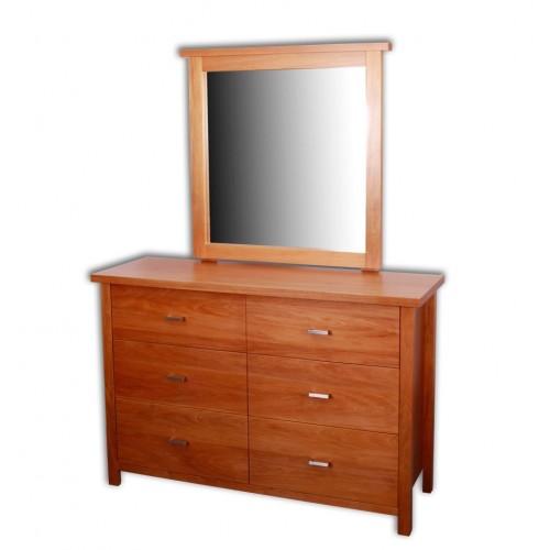 Nero 6 Drawer Dresser & Mirror