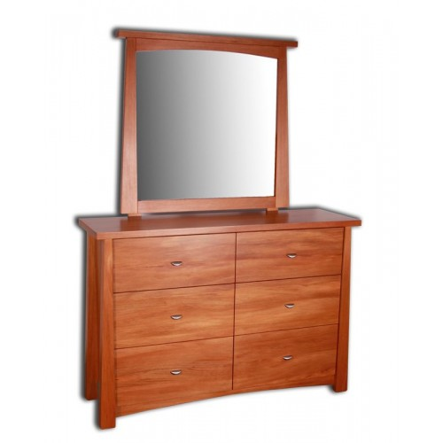 Oke 6 Drawer Dresser with Mirror
