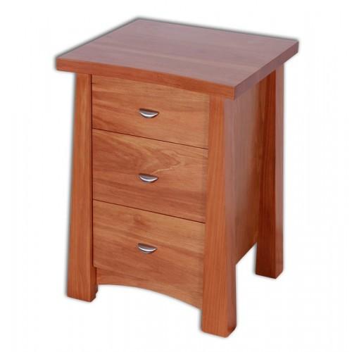 Oke 3 Drawer Narrow Bedside cabinet