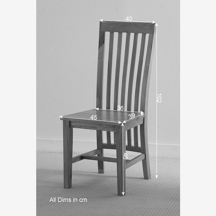 Osaka Solid Oak Seat and Slat Back Dining Chair