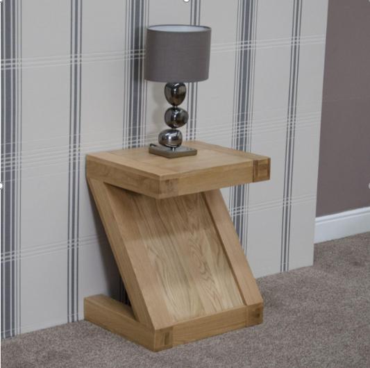 Zara Designer Oak Lamp Table