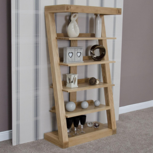 Zara Designer Oak Book Shelf