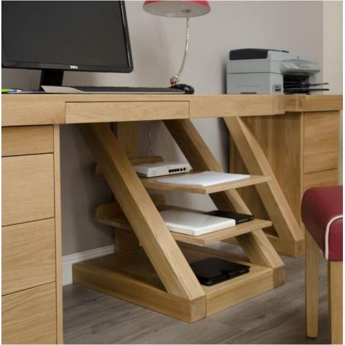 Zara Oak Designer Large Computer Desk