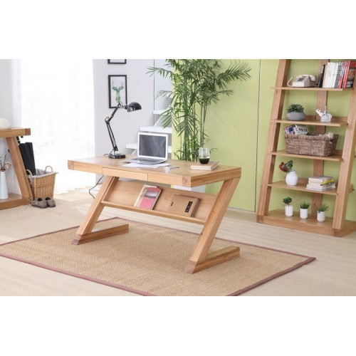 Zara Oak Small Study Desk