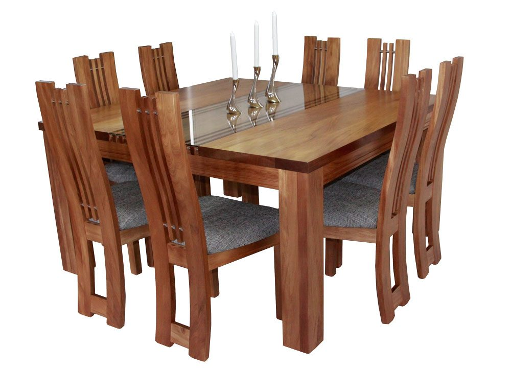 Zee 6 Chairs and 1800 x 1000mm Dining Table