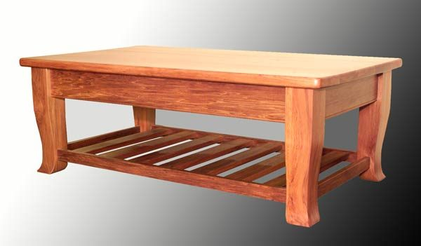 Geo 1200 x 700 Coffee Table with Rack