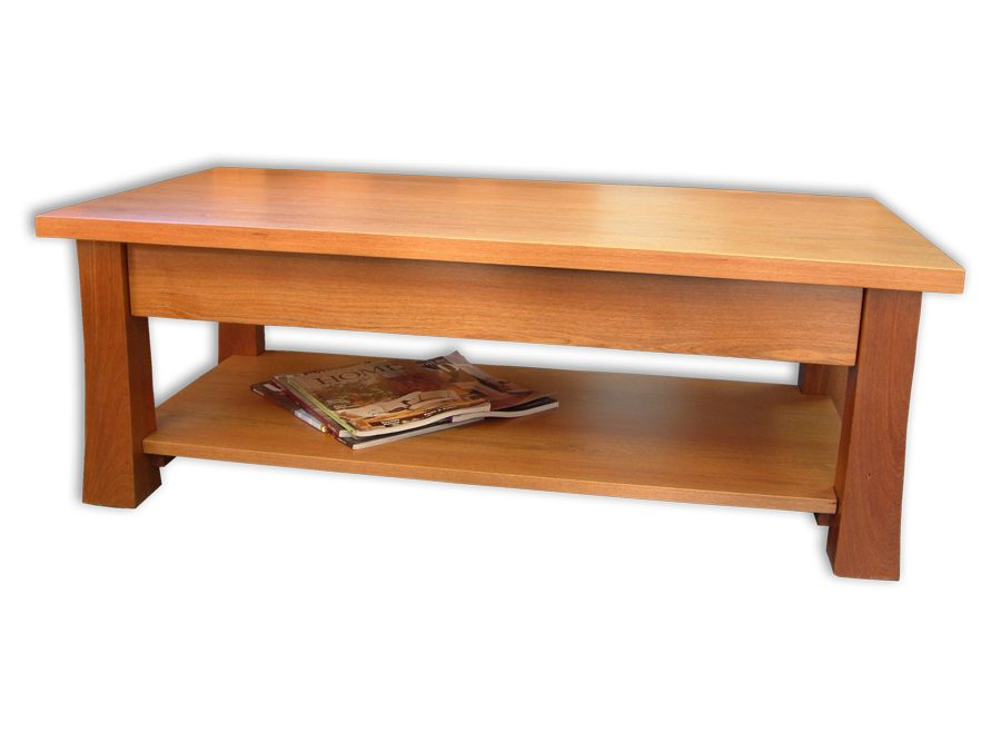 Kea 1200 x 625 Coffee Table – Draw & Rack