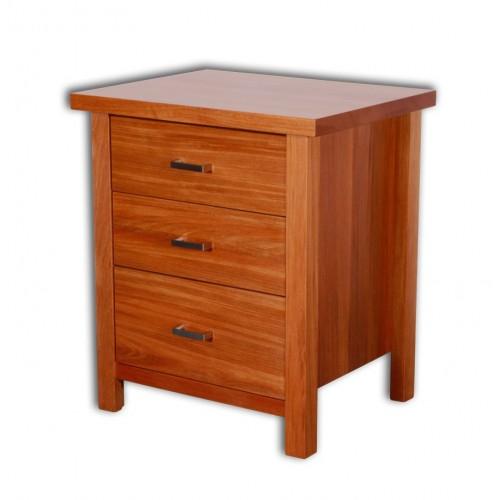 Nero 3 Drawer Bed Side Cabinet