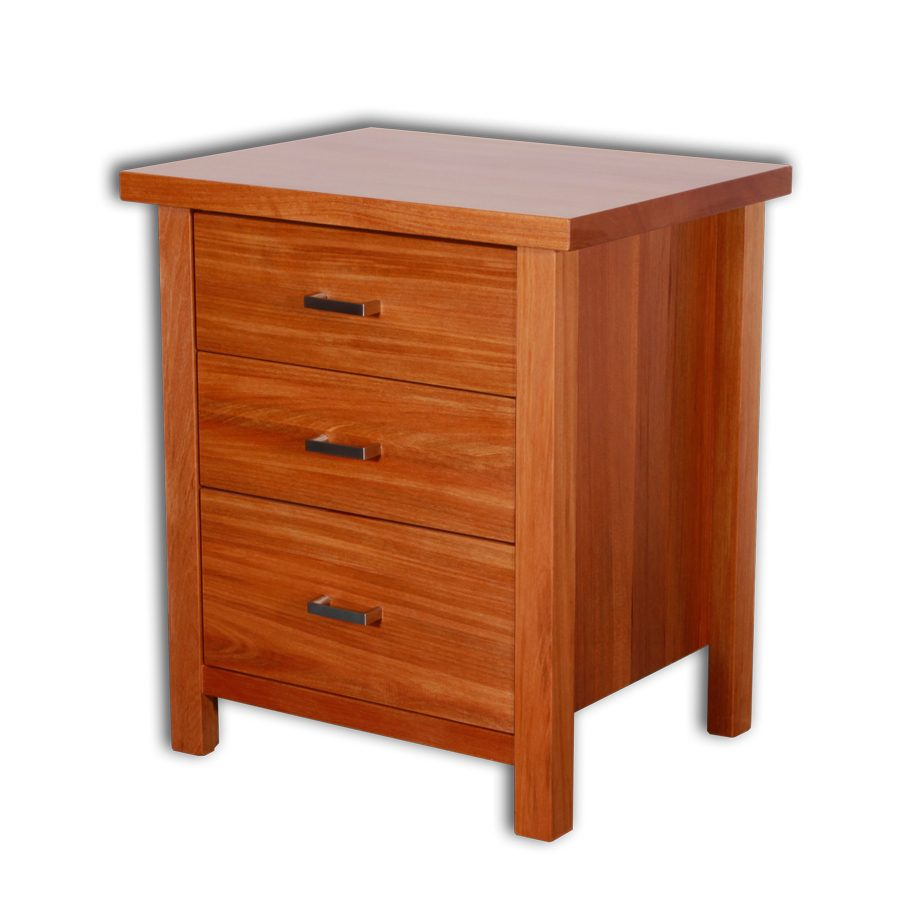 Nero 3 Drawer Bed Side Cabinet
