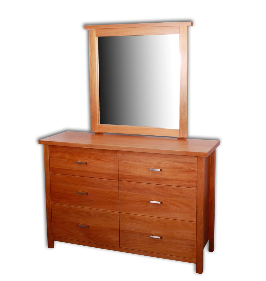 Nero 6 Drawer Dresser & Mirror