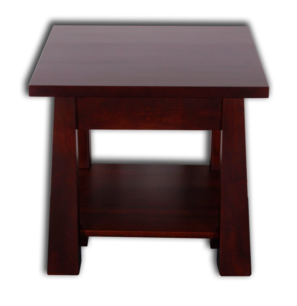 Oke Side Table with Drawer & Rack
