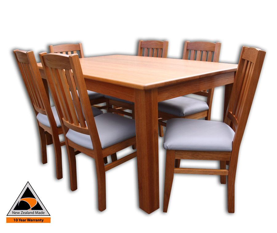 Woodland 6 Chairs and Straight Legs Table