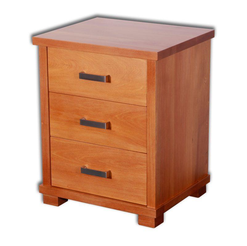Zee 3 Drawer Bedside cabinet