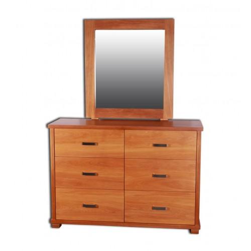 Zee 6 Drawer Dresser and Mirror
